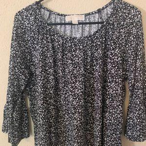 Michael Kors flower print blouse